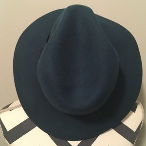 Teal Wool Fedora